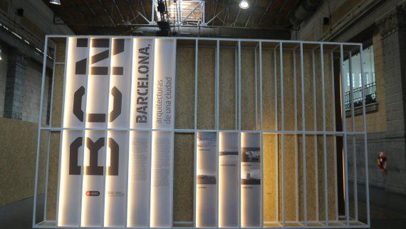Instal·lació de Barcelona a la Biennal d'Arquitectura.