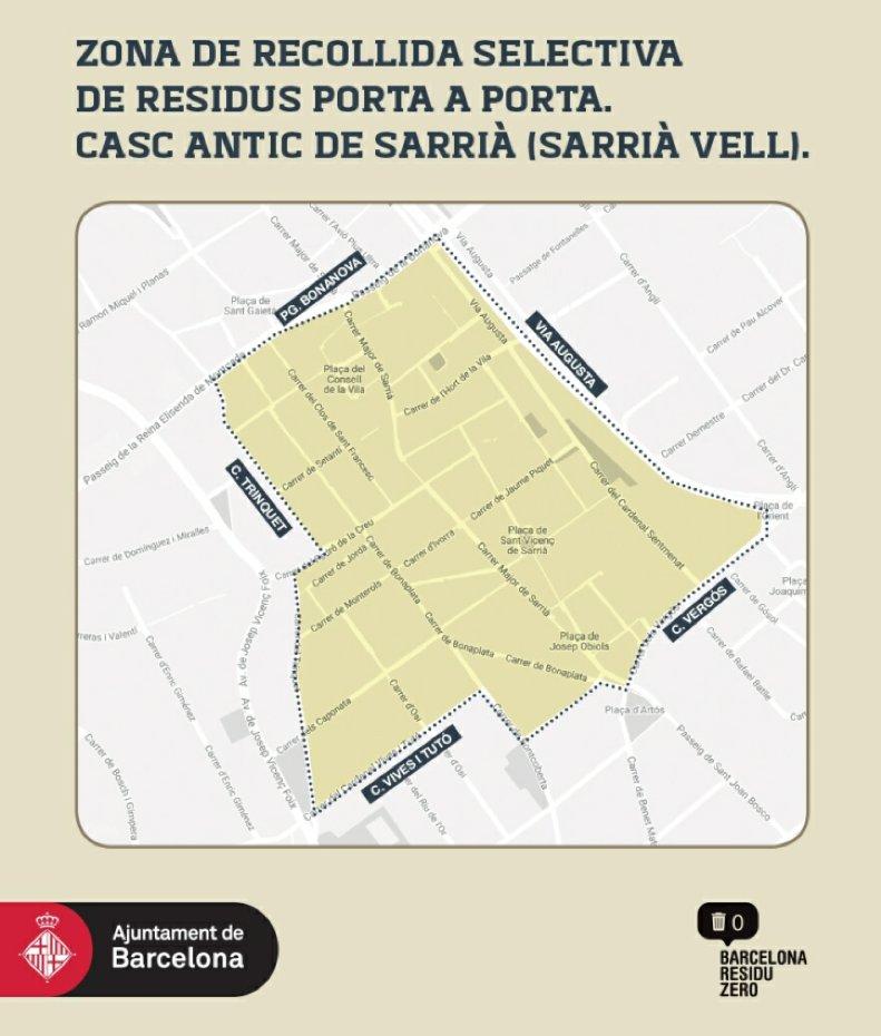 Recogida de muebles por distritos en barcelona