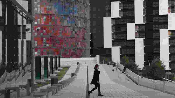 Plaza de les Glòries Catalanes, 2014. AFB. Darius Koehli/VEGAP