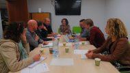 Imatge de la trobada amb alumnes de l'Institut Saint Simon