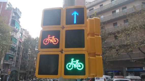 Carril bici carrer Indústria - Cruïlla carril bici Cartagena