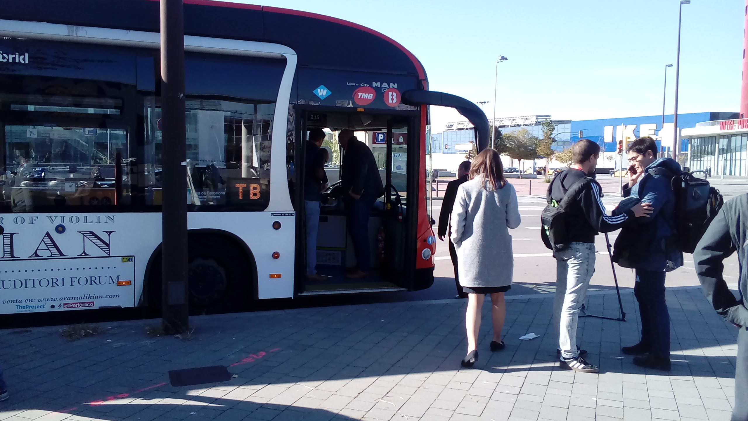 A new sensor system is installed in municipal-fleet buses