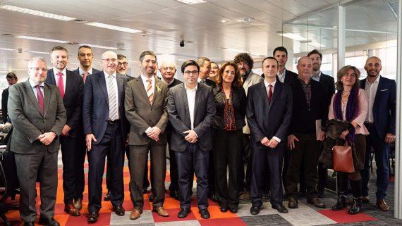 Es presenta l'acord de la iniciativa 5GBarcelona. Seu d'I2CAT.