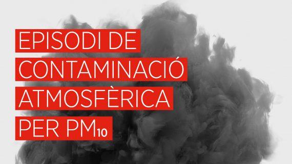 Episodi de contaminació per PM10