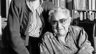 Montserrat Roig i Maria Aurèlia Capmany, l'any 1991. (foto: Pilar Aymerich.)