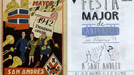 Cartells de Festes Majors de Sant Andreu del Palomar (1942, 2014)
