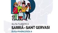 Cartell rutes Sarrià-sant Gervasi