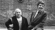 Maria Aurèlia Capmany i Pasqual Maragall, l'any 1983.