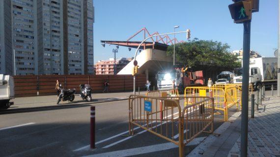 Obres tram ronda Guinardó - Escorial