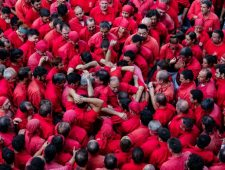 Historical human towers meeting for La Mercè