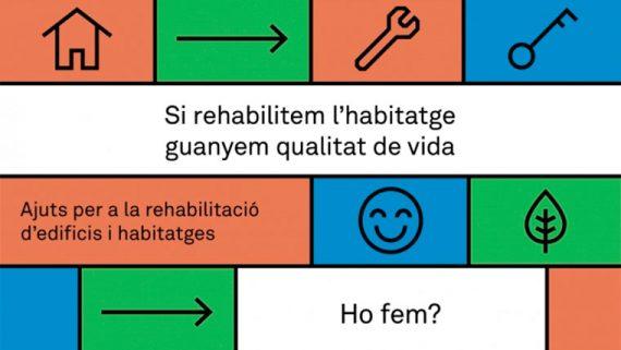 Cartell dels ajuts a la rehabilitació