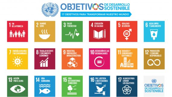 Imatge amb els 17 Objectius de Desenvolupament Sostenible