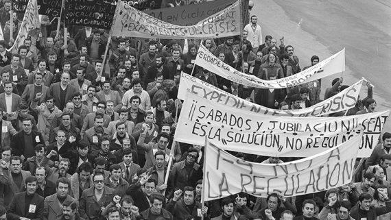 Manifestación de la SEAT, 1978. AFB. Se-grà