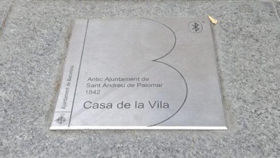 Placa beacons Sant Andreu