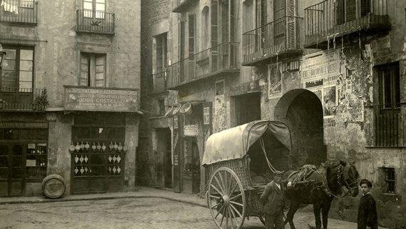 Plaça de l'Oli, 1908. AFB. Joan F. Rovira