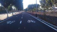 Carril bici carrer 2 Zona Franca