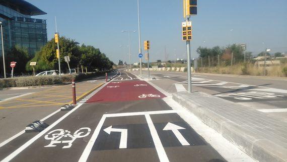 Carril bici av Parc Logístic