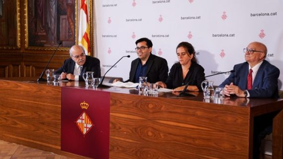 Presentació del premi Hipàtia a l'Ajuntament de Barcelona.