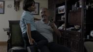 L'Ossamaha i el seu fill al seu pis de Madrid