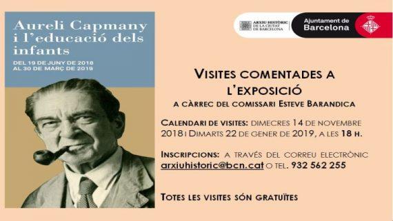 Visites comentades a l'Exposició Aureli Capmany i l'educació dels infants