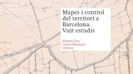 Publicació: Mapes i control del territori a Barcelona. Vuit estudis.