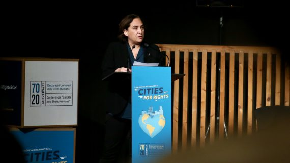 Ada Colau inaugura Cities for Rights
