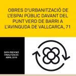Obres Urbanització Av. Vallcarca