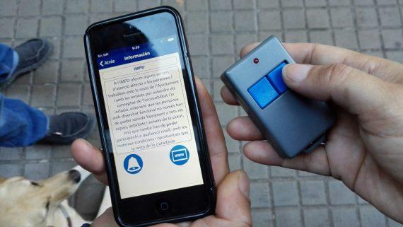 Dispositu acústic per localitzar els edificis
