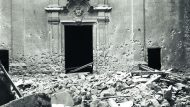 Església de Sant Felip Neri destruïda per un bombardeig. Febrer 1938. (ANC. Brangulí –fotògrafs -)