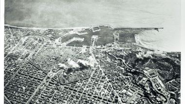 Les imatges aèries dels bombardeigs dels dies 16, 17 i 18 de març de 1938 evidencien l'horror global dels atacs que va viure Barcelona aquests tres dies. (Arxiu fotogràfic del Centre d'Història Contemporània de Catalunya)