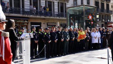 Inauguració Memorial Rambla, serveis d'emergències, atemptat barcelona