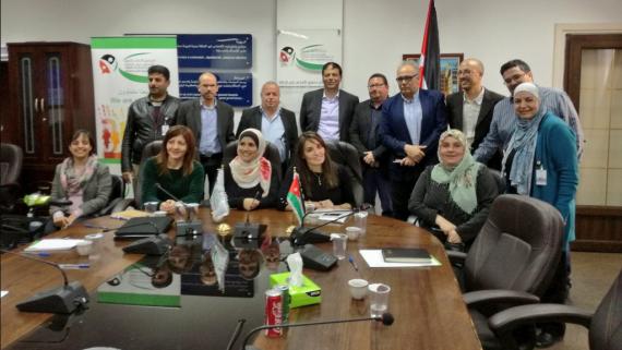 Delegació de l'IMPD amb diferents càrrecs del Higher Council for the Rights of the Persons with Disabilities