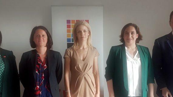 Ada Colau a la cimera de la xarxa Eurocities