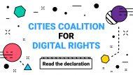 Imatge del web de la Coalició de Ciutats pels Drets Digitals