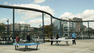 ping pong, glories, zona de jocs, parc, raqueta, joves