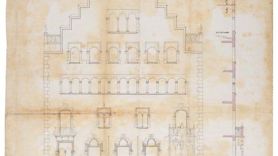 Plànol de l'alçat de la façana de la Casa Amatller, de Puig i Cadafalch