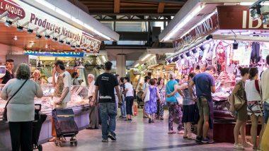 santa caterina, mercat de santa caterina, turistes, turista, mercat barcelona, grups de visitants