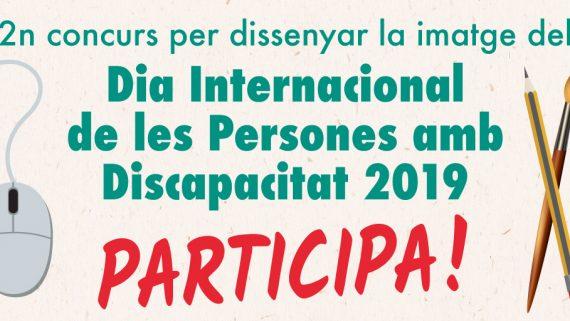 Cartell imatge del 2n Concurs per el dissney del Dia Internacional de les Persones amb Discapacitat
