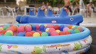 Zona de jocs d'aigua del parc de Joan Miró