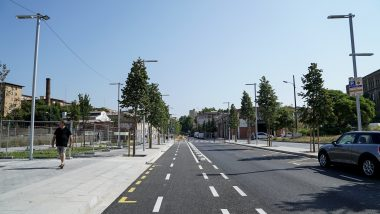 obres, reforma Pere IV, carrill bici, bicicleta, Sant Martí