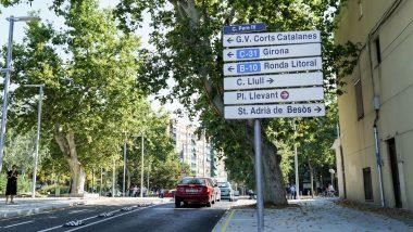 carrer del Besòs, Senyal, trànsit, obres Sant Martí, Pere IV