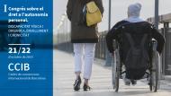 """Imatge del primer congrés """"Dret a l'autonomia personal. Discapacitat física i orgànica, envelliment i cronicitat"""", que celebrarem a Barcelona els dies 21 i 22 d'octubre de 2019 al Centre de Convencions Internacional de Barcelona (CCIB)."""