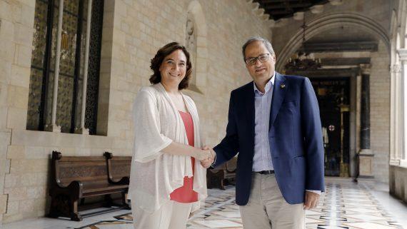 Reunió Ada Colau amb Quim Torra