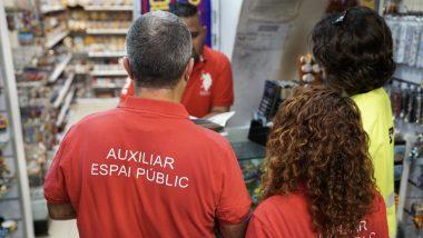 Inspeccions, botigues de records, souvenirs, normativa municipal, turisme, Barcelona