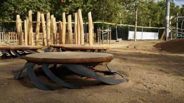 Parc de la Pegaso, jocs infantils, àrea de jocs, Sagrera, Sant Andreu, Barcelona