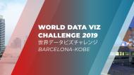 Cartell de la segona edició del concurs World Data Viz Challenge 2019 Barcelona-Kobe