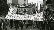 Manifestació dels Veïns del Barri de La Catalana. 1977.