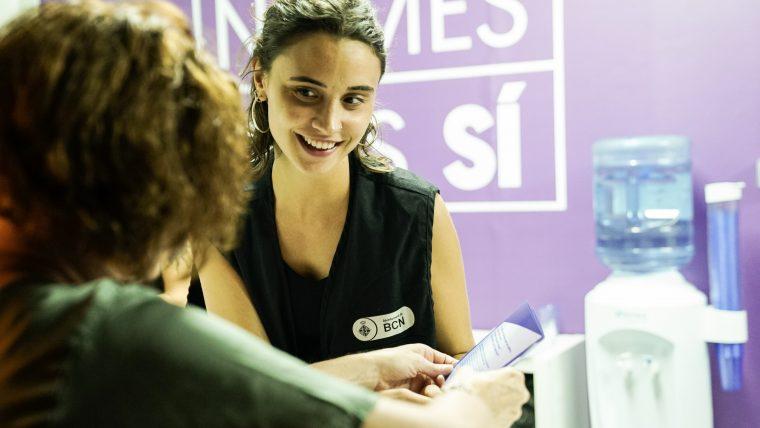 BCN antimasclista, estand antimaclista, violència masclista, Barcelona, Feminisme