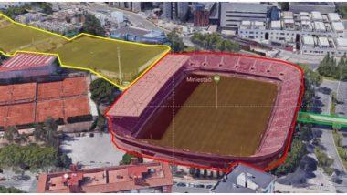 Enderroc Miniestadi, FC Barcelona, urbanisme