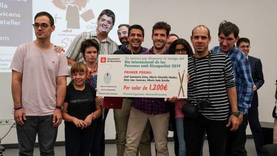Ganadores y ganadoras del II Concurso de ideas para el diseño del Dia INternaiconal de las Personas con Discapacidad